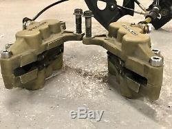 02 Kawasaki ZX12r Ninja Front Brake System Calipers Master Cylinder Assembly OEM