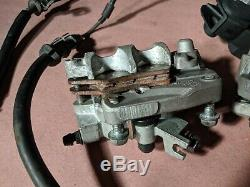 04-05 Honda TRX450R Front Brake System Master Cylinder Calipers Pads CLEAN