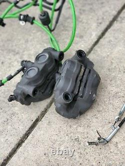 11-14 zx10r full abs brake system front and rear calipers