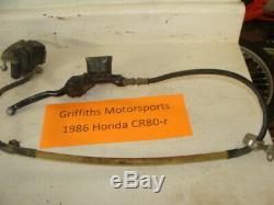 1986 86 85 87 HONDA CR80r CR80 front brake system brakes caliper master lever