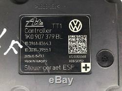 2013 VW Golf R ABS Anti Lock Brake System Control Pump ESP Module // 1K0907379BL