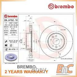 2x BREMBO FRONT BRAKE DISC SET RENAULT MEGANE III COUPE DZ0/1 OEM 09A75211