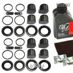 2x Brake Caliper Repair Kit Gasket Set + Piston Front 40/44 mm for Brembo-System
