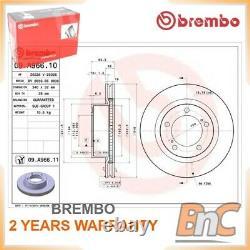 2x FRONT BRAKE DISC FOR TOYOTA LAND CRUISER 200 VDJ2 UZJ2 BREMBO 4351260180