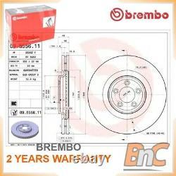 2x FRONT BRAKE DISC JAGUAR BREMBO OEM T2R5939 09B55611 GENUINE HEAVY DUTY