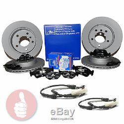 ATE Bremsscheiben V300mm + H294mm + Beläge + Warnkontakt VORNE HINTEN BMW E46