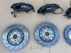 Audi RS6 S6 RS7 S7 390mm Wave Brake System Front+Rear Complete Saddle Disc