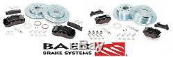 BAER Brake System Front & Rear Kit Black / Red for 2007-2018 Jeep Wrangler JK