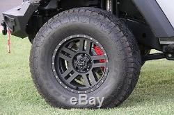 BAER Brake System Front & Rear Kit Silver / Red for 2007-2018 Jeep Wrangler JK