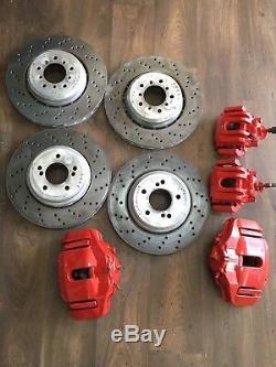 BMW 3er M3 E92 1er M1 Brake System Brake Discs Brake Calipers Front Rear Red