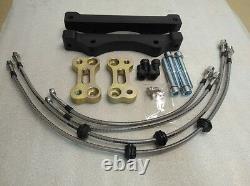BMW 5 F10 brake caliper adapters to install F10 M5 brake system