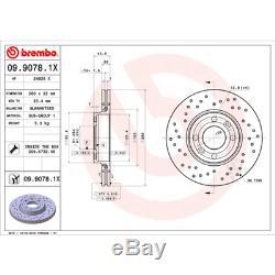 Brake Disc (2 Pcs) Brembo Xtra Line Brembo 09.9078.1X