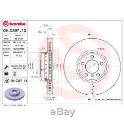Brake Disc (2 Pcs) Two-Piece Discs Line Brembo 09. C397.13