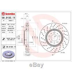 Brake Disc (2 Piece) brembo Xtra Line brembo 09.9130.1X