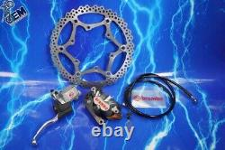 Brembo Front Brake Factory Upgrade System Complete Master Caliper Braided Line