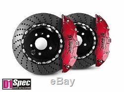 D1 Spec Front RS Big Brake 6Pot Caliper Anodize Red 355x32 Drill Disc for A5 8T