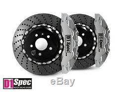 D1 Spec Front RS Big Brake 6Pot Caliper SILVER 355x32 Drill Disc for E46 M3