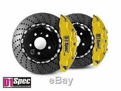 D1 Spec Front RS Big Brake 6Pot Caliper YELLOW 355x32 Drill Disc for E46 M3
