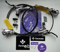 Formula Brake System Formula CURA 2021 Silver Polish front + rear NEW