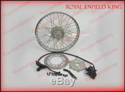 Front Disc Brake Kit Assembly System With Disc Wheel For Royal Enfield Bikes BSA