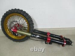 HONDA CRF50 SANO SYSTEMS BOMBSHELL FRONT FORKS With 12 WHEEL HUB M137