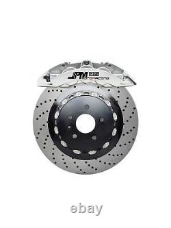 JPM Forged RS Brake 6Pot Caliper Anodized SILVER 14 Drill Disc for W204 08-13
