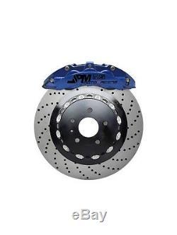 JPM Front RS Big Brake 6Pot Caliper Anodized SILVER 355x32 Drill Disc for E46 M3