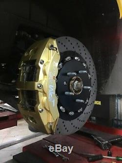 JPM RS Big Brake 6Pots Caliper Anodized GOLD 15 Drill Disc for Corvette C7