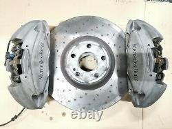 Mercedes C-class W205 C205 C43 Amg Front Brake System Calipers + Discs