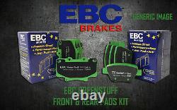 New Ebc Greenstuff Front And Rear Brake Pads Kit Performance Pads Padkit1613