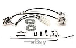 RC Car BAJ128SILVER Hydraulic Front Brake System for HPI Baja 5B, 5T, 5B2.0, 5SC