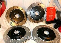 Read Full Brembo Big Brake Kit Gran Turismo System Front Rear Calipers Rotor BBK