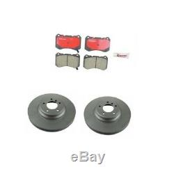 Set of 2 Front Rotors & Brembo Pads with Bembo Brake System For Acura TL Type-S