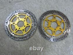 Suzuki GSXR 1000 K1 K2 2001 2002 pair EBC sd system front brake discs 320mm