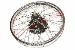 Triumph 350 Front Rear Wheel Rim With Brake System & Stainless Steel Spokes CDN