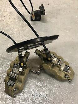 02 Kawasaki Zx12r Ninja Système De Frein Avant Étriers Maître-cylindre Oem Assemblée