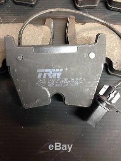 2 Pièces Disques De Frein Brembo Et Trw Pads Capteurs Audi Rs4 B7 / Rs 4 Quattro Brembo