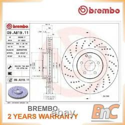 2x Brembo Front Brake Disc Set Mercedes-benz Oem 09a81911 2214211812