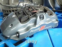 Audi S8 5.2 V10 4e D3 Système De Frein En Céramique Frein Caliper Disques De Frein Ensemble