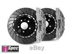 D1 Spec Avant Rs Big Brake Caliper 6pot Argent 355x32 Drill Pour Disque A4 B8