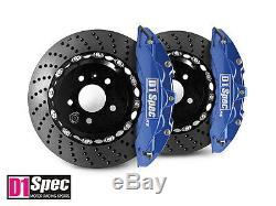 D1 Spec Avant Rs Big Brake Caliper 6pot Bleu 355x32 Drill Disque Pour M3 E46