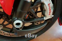 Ducati Panigale V4 S Système De Refroidissement Cnc Racing Avant Conduits De Frein + Kit De Montage