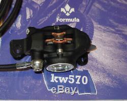 Formule Du Système De Freinage R0 / Ro Ovale My16 Noir Mat Fcs + Tfra Argent Avant + Arrière