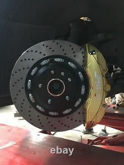 Jpm Rs Big Brake 8pots Caliper Anodized Gold 15 Drill Disc Pour Corvette C7