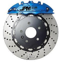 Jpm Rs Big Brake Caliper 4pots Bleu 14 Drill Anodisée Disque Pour Corvette C7