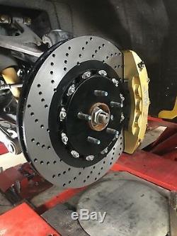 Jpm Rs Big Brake Caliper 6pots Gold 15 Anodisée Drill Disque Pour Corvette C7