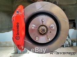 K-system. Pro Honda CIVIC X 2016+ Brembo 4-pot 324x30 Big Frein
