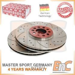 Oem Master-sport Heavy Duty Front Brake Disc Set For Audi Vw Seat Skoda