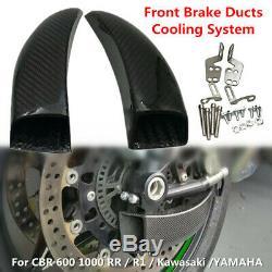 Système En Fibre De Carbone De Course Avant Conduits De Frein De Refroidissement Fit Pour Cbr Kawasaki Yamaha