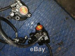 Yamaha Rd350 LC Ypvs De Complete Front Brake System Master, Lever, Calipers Etc